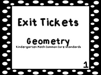 These exit tickets can be used to do a quick assessment for the Geometry standards in Kindergarten. You can use the exit tickets on the Smartboard or the Promethean Board. The exit tickets can also be printed to be used on the ELMO or as paper exit tickets.There are printable exit ticket cards included in the packet that I use in my classroom.