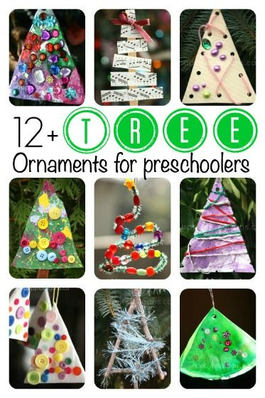 12 easy, adorable Christmas Tree ornaments that look like Christmas Trees! Easy enough for tots to make, but so charming, kids of all ages will love them.