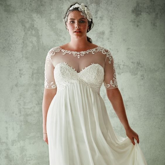 """Your Jaw Will Drop When You See Who Made These Gorgeous """"Plus-Size"""" Wedding Gowns 