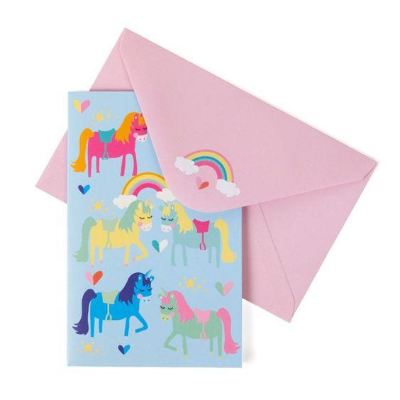 Unicorn notecards - box of 8
