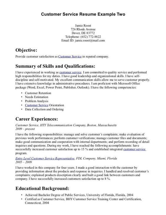 sample resume templates customer service resumes template word - customer service accomplishments