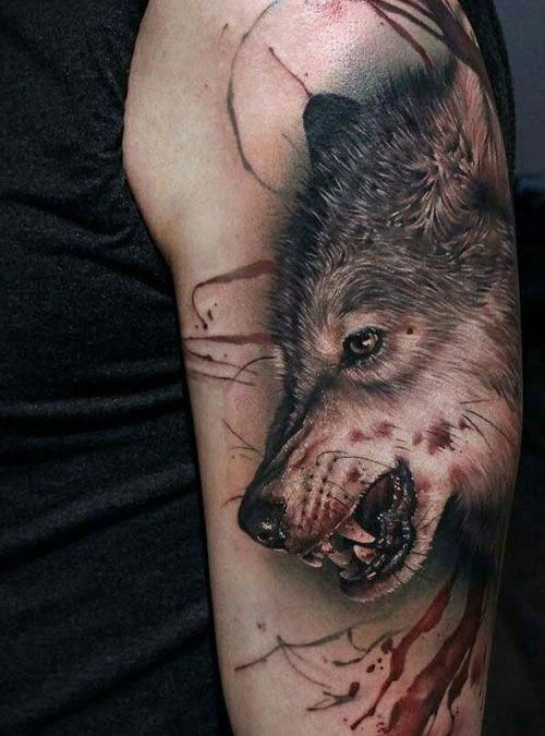 Realistic Wolf Tattoos Best Wolf Tattoos For Men Cool Wolf Tattoo Designs And Ideas For Guys Howling Sna Wolf Tattoos Men Wolf Tattoos Wolf Tattoo Sleeve