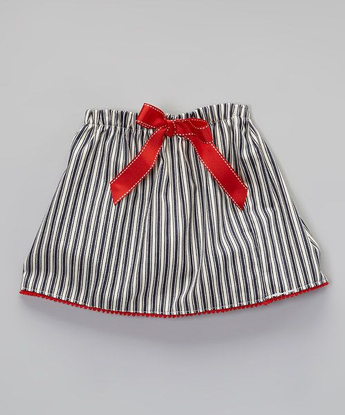 Look what I found on #zulily! Blue & Red Stripe Skirt - Toddler & Girls by Jen Jen #zulilyfinds