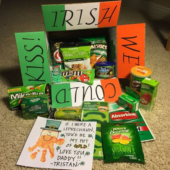 St. Patrick's Day care package for deployed soldier