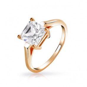Princess Cut Gold Vermeil Solitaire CZ Engagement Ring 2 Carat... love this timeless piece