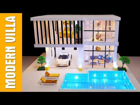 Suprising Idea Mini House Easy Way To Make A Great Modern House With Swimming Pool Suprising Idea Mini House Easy In 2020 Mini House Modern House Swimming Pools