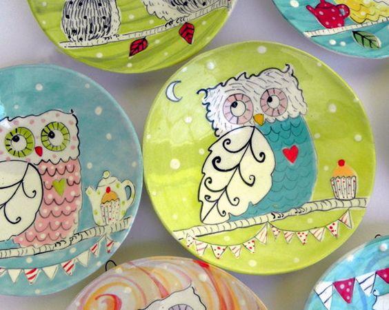 little owl plate