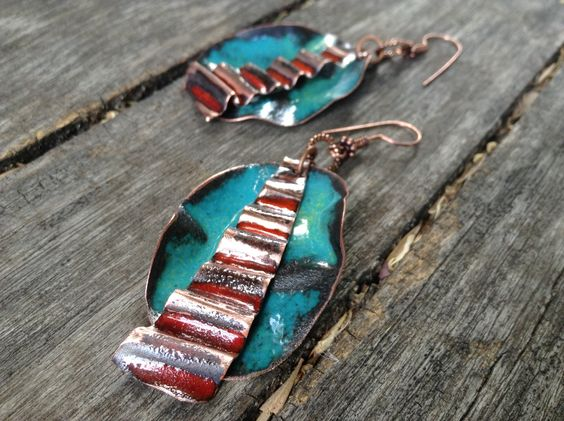 The latest crumpled enamel on copper.