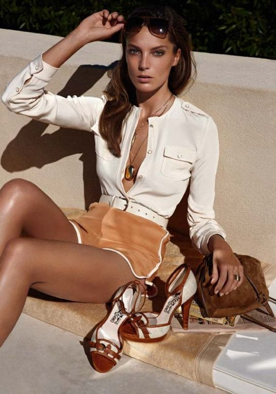 Daria Werbowy by Mikael Jansson for Salvatore Ferragamo Spring 2011 Campaign