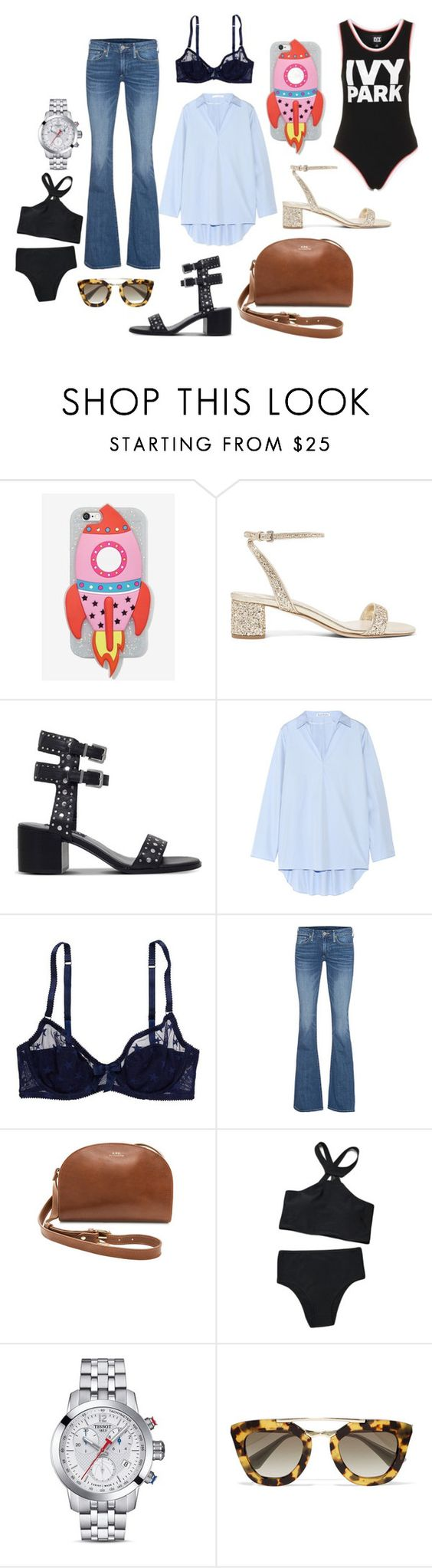 """May"" by malou-malou ❤ liked on Polyvore featuring Skinnydip, Miu Miu, Senso, Acne Studios, American Eagle Outfitters, True Religion, A.P.C., Tissot, Prada and Ivy Park"