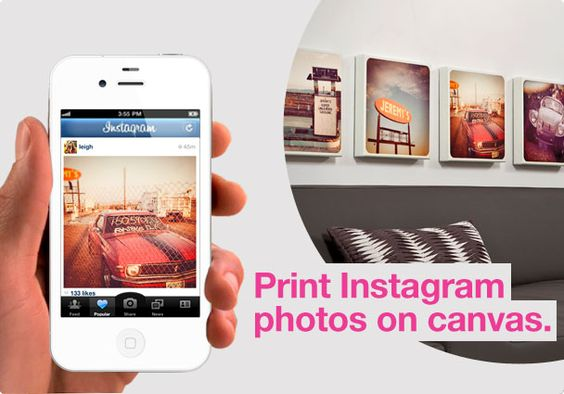 website for printing photos straight onto canvas