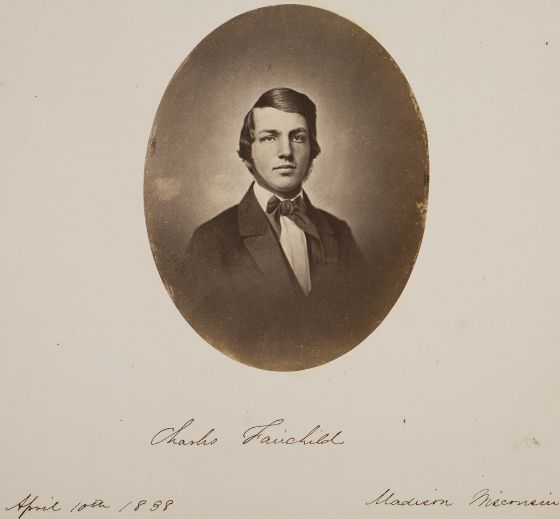 Charles Fairchild, Madison, Wisconsin, 1858. Varnished salted paper print.