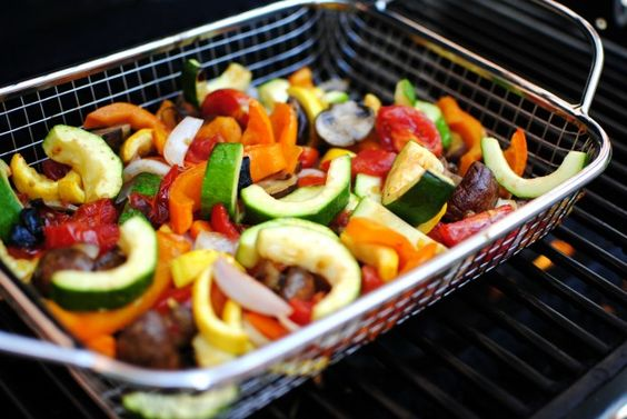 Grilled Vegetable Panzanella using a Pampered Chef veggie grilling ...