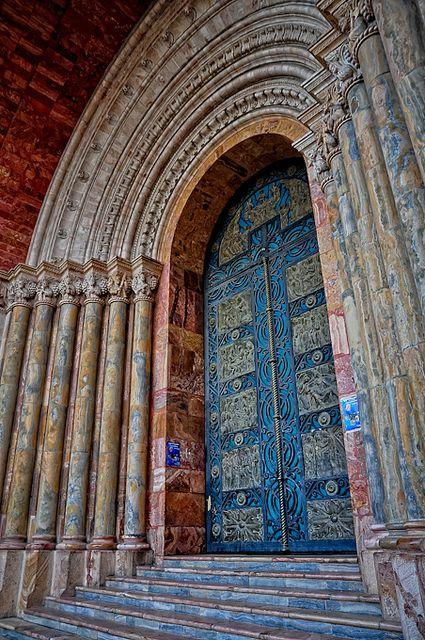 Beautiful door at a cathedral in Cuenca, Ecuador.