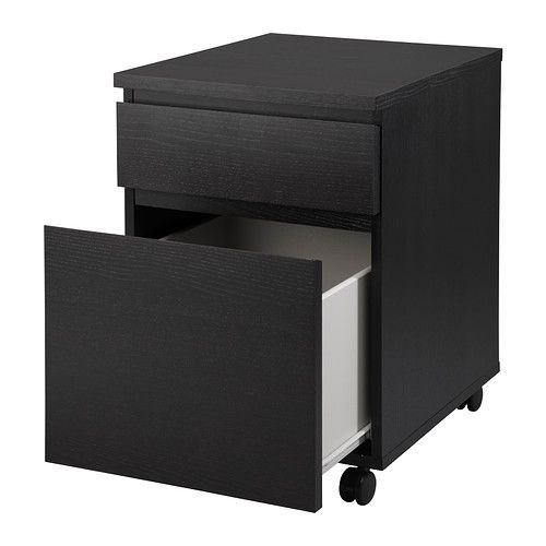 office malm drawer unit on casters ikea the casters make it easy to move around new house. Black Bedroom Furniture Sets. Home Design Ideas