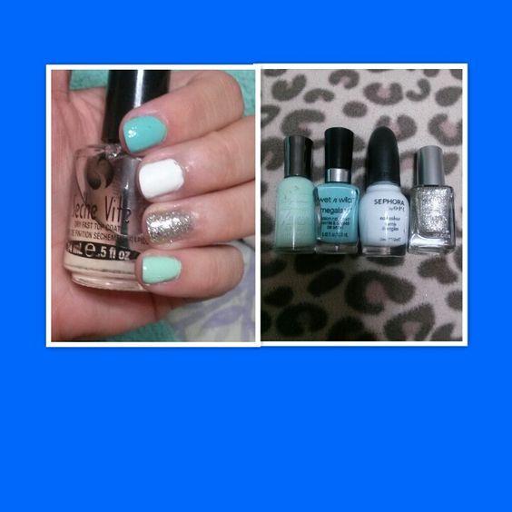 Pretty minty nails