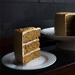 Toffee Cake, Toffee Buttercream with Hazelnut Praline