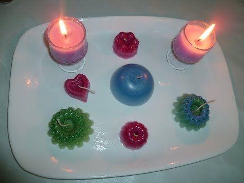 شموع ملونة عطرية صنع منزلي طريقة سهلة مشروع مربح جدا للماكثات بالبيت Youtube In 2021 Candles Candlelight Tea Lights