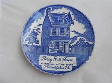 "Betsy Ross House Birthplace of ""Old Golry"" Philadelphia Pa. Souvenir Plate"