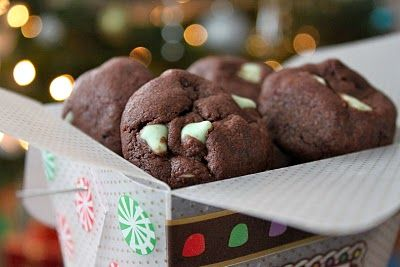 Mint Chocolate Delight cookies - tastes like a Thin Mint! (they really do!!! I will absolutely make these again - soon!)