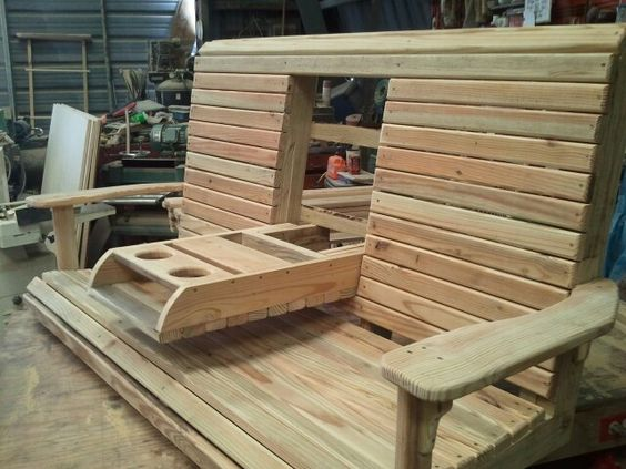 ... project plans | Pinterest | Wooden Swings, Drink Holder and Consoles