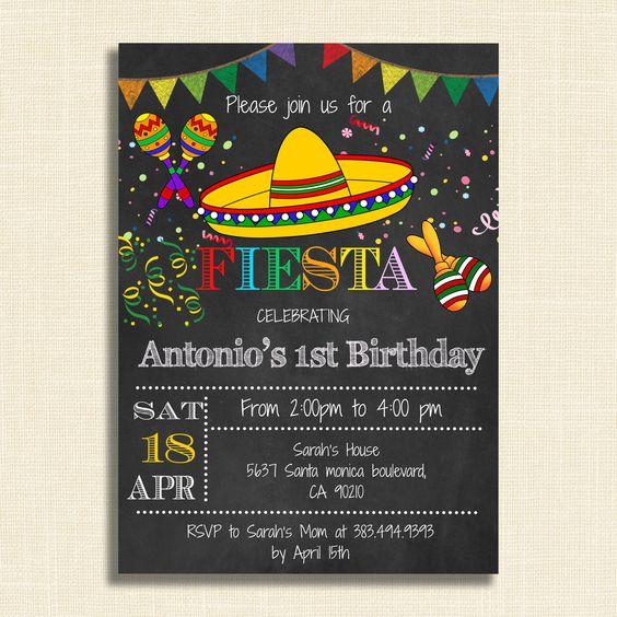 Free Editable Fiesta Invitation Fiesta Invitations Mexican - Diy birthday invitation templates