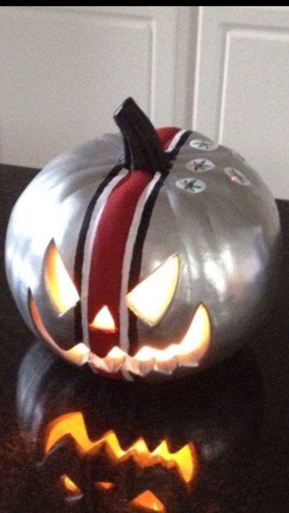 Ohio State Buckeyes Pumpkin :) Columbus Ohio USA COLLEGE FOOTBALL