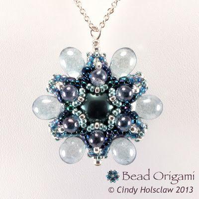 Raindrop Flower Pendant - Cindy Holsclaw - Bead Origami