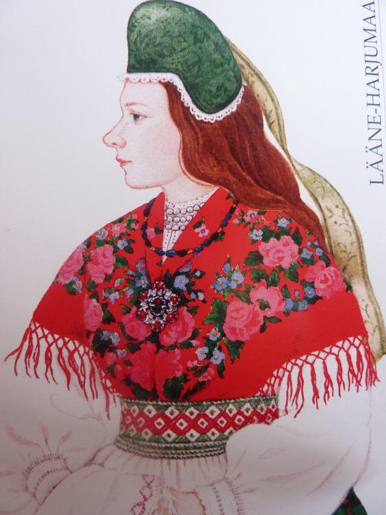 Estonian costume Kunstnik Mari Kaarma Maksimumkaart Nr. 86  Esti Post 2012