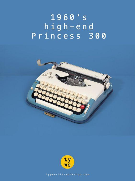Portable & chic, the 1960's Princess 300 typewriter! *Typewriter Workshop*