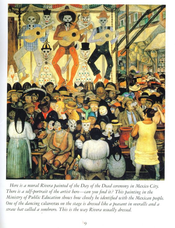 Day of the dead mural by diego rivera art i love for Day of the dead mural