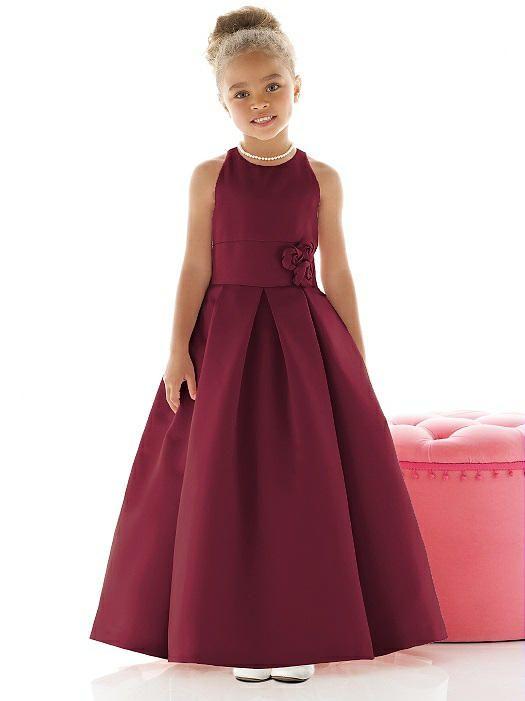 Matte Satin Burgandy Flower Girl Dress FL4022 http://www.dessy.com/dresses/flowergirl/fl4022/