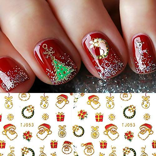 Dr Mode Christmas Nail Decals 3d Nail Art Stickers Decals Diy