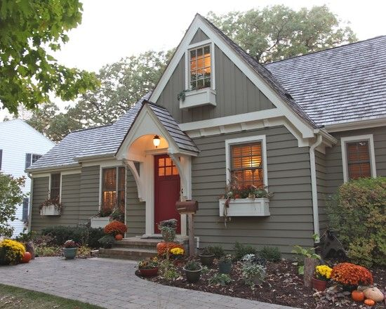Contemporary Exterior House Color Schemes Design Pictures