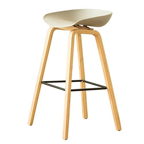 Zrxian Barstools Bar Stool Nordic Simple Solid Wood Breakfast Chair Kitchen High Stool Cafe Bar Table And Chair Dining Stools Upholstered Bar Stools Bar Chairs