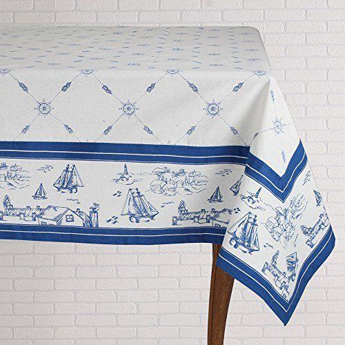 Mahogany Sailor Square Tablecloth White Square Tablecloth Table Cloth Mahogany