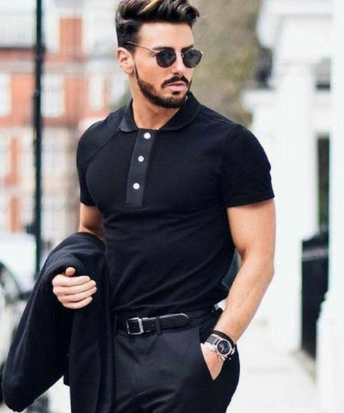 roupa toda preta masculina