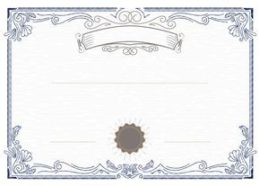 Blue Border Certificate Elegant European Pattern Vector Background Vector Background Certificate Design Template Certificate Design
