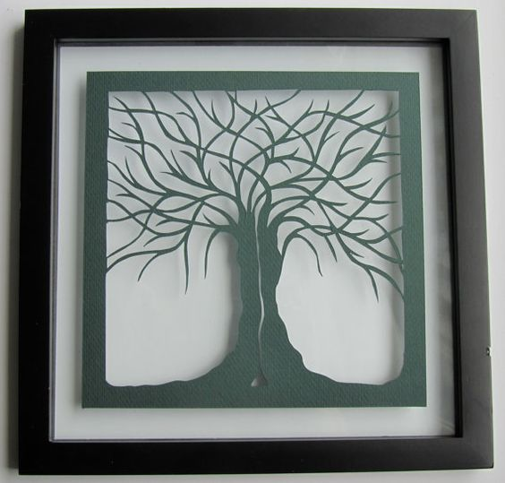 Can you believe this is paper! Wall and Home Décor Two Trees Of Life As One by BoldFolds on Etsy, $50.00