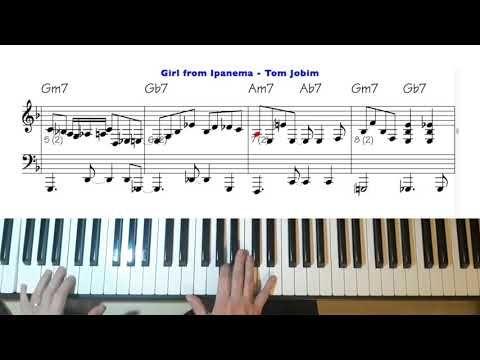 Girl From Ipanema With Score Youtube Piano Music Jazz Piano Classical Music