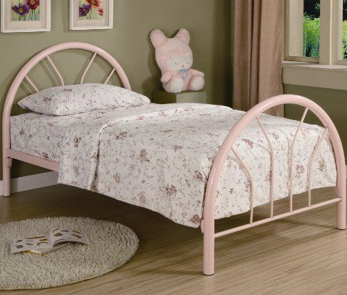 This Twin Bed Offers A Calming Simplicity With Gracious Curves The Two Inch Metal Tubing Comes In Your Choice Of Black Blue Red White And Pink High
