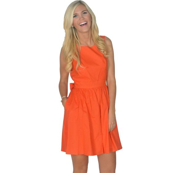 The Emerson Dress in Orange by Lauren James