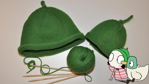 Free Knitting Pattern Duck Hat : Sarah and Duck Hat Knitting Pattern Needle Crafts ...