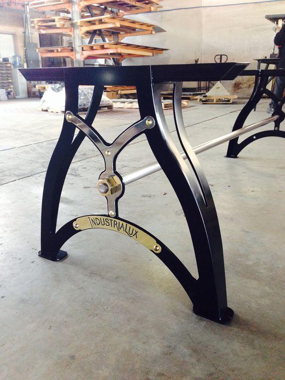 Peek at a new IndustriaLux table base model. It's shiny!!
