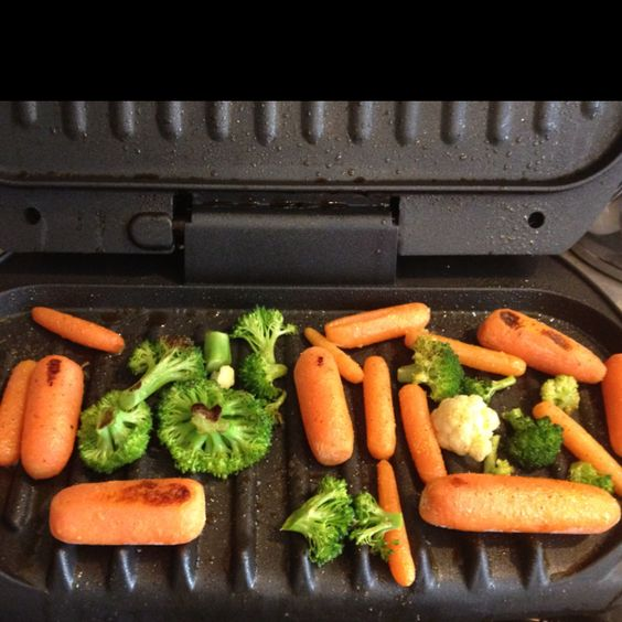 Grilled veggies for one george foreman raw veggies for George foreman grill fish