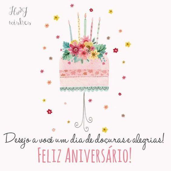 Birthday Ecards In Portuguese ~ Mensagens de anivers�rio pinterest facebook