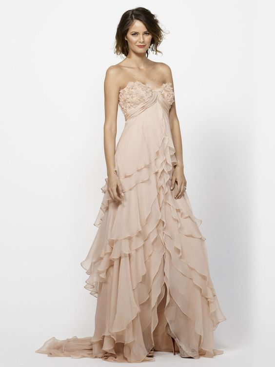 Blush Wedding Dress Petite : Blush wedding dresses high low skirt pink