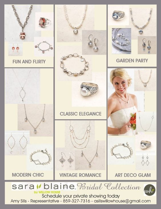 Bridal Jewelry ideas from the Sara Blaine by Willow House line.