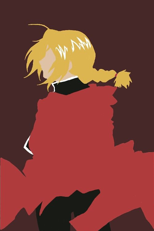 Edward Elric Minimalist Iphone Wallpaper By Housesofwolves Fullmetal Alchemist Alchemist Sketchbook Inspiration