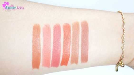 Handswatches (L-R) 707 Cordovan, 706 Sweetheart, 710 Forever, 709 Sunshine, 712 Nude, 703 Redwood